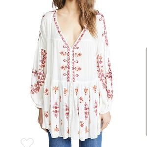 Free People Arianna Tunic in ivory